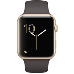 Apple - APPLE WATCH S2 42MM GOLD CASE COCOA SPORT BAND