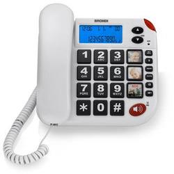 Brondi - Telefono a Filo Super Bravo LCD  V.Voce Bianco