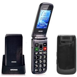 """Brondi - Cellulare SENIOR AMICO FLIP PLUS 2,4"""" Nero"""