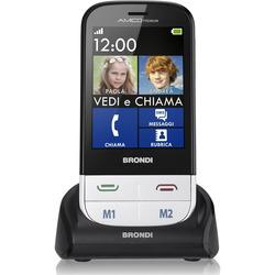 """Brondi - Cellulare Amico Premium 2,8"""" TS con Viva Voce Bianco"""