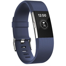 Fitbit - CHARGE 2 BRACC. FITNESS Large Blu