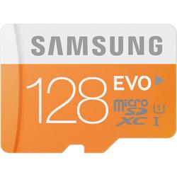 Samsung - EVO 128GB MicroSDXC Class 10 UHS-1
