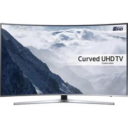 "Samsung - UE65KU6100K 65"" 4K Ultra HD Smart TV Wi-Fi Nero, Argento"