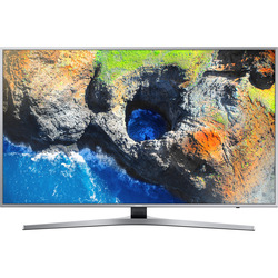 "Samsung - UE49MU6400  49"" Ultra HD Smart TV Wi-Fi  Silver"