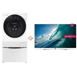 LG - Twin Wash FH4G1BCS2 - F8K5XN3 + TV OLED 55B7V