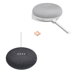 GOOGLE - HOME MINI NERO + GOOGLE HOME MINI BIANCO