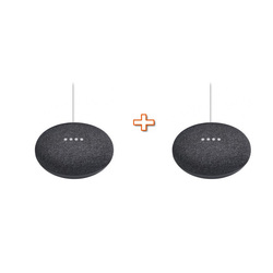 GOOGLE - HOME MINI NERO + GOOGLE HOME MINI NERO