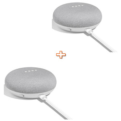GOOGLE - HOME MINI BIANCO + GOOGLE HOME MINI BIANCO