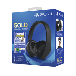 Sony - GOLD WIRELESS HEADSET PS4 + VOUCER FORTNITE