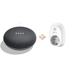 GOOGLE - HOMEMINI GA00216-IT nero + PRESA SMART HS100