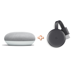 GOOGLE - HOMEMINI GA00210-IT bianco + CHROMECAST