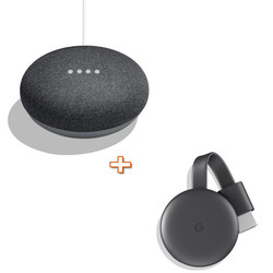GOOGLE - HOMEMINI GA00216-IT nero + CHROMECAST