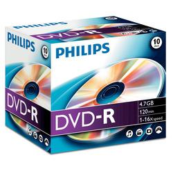 Philips - DVD-R4,7GB JEWEL