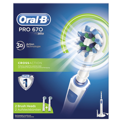 ORAL B - 670 CROSS ACTION bianco-blu