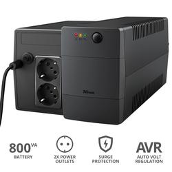 Trust - PAXXON 800VA UPS 2 OUTLETS