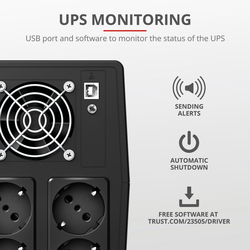 Trust - PAXXON 1500VA UPS 4 OUTLETS