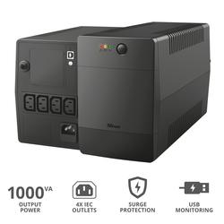 Trust - PAXXON 1000VA UPS 4 IEC OUTLETS