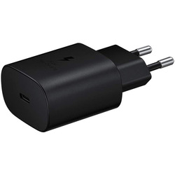 Samsung - TRAVEL ADAPTER 25W (W/O CABLE) BLACK
