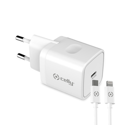 Celly - TC1C20WTYPECWH - TC 1 USB-C 20W + TYPE-C CABLE