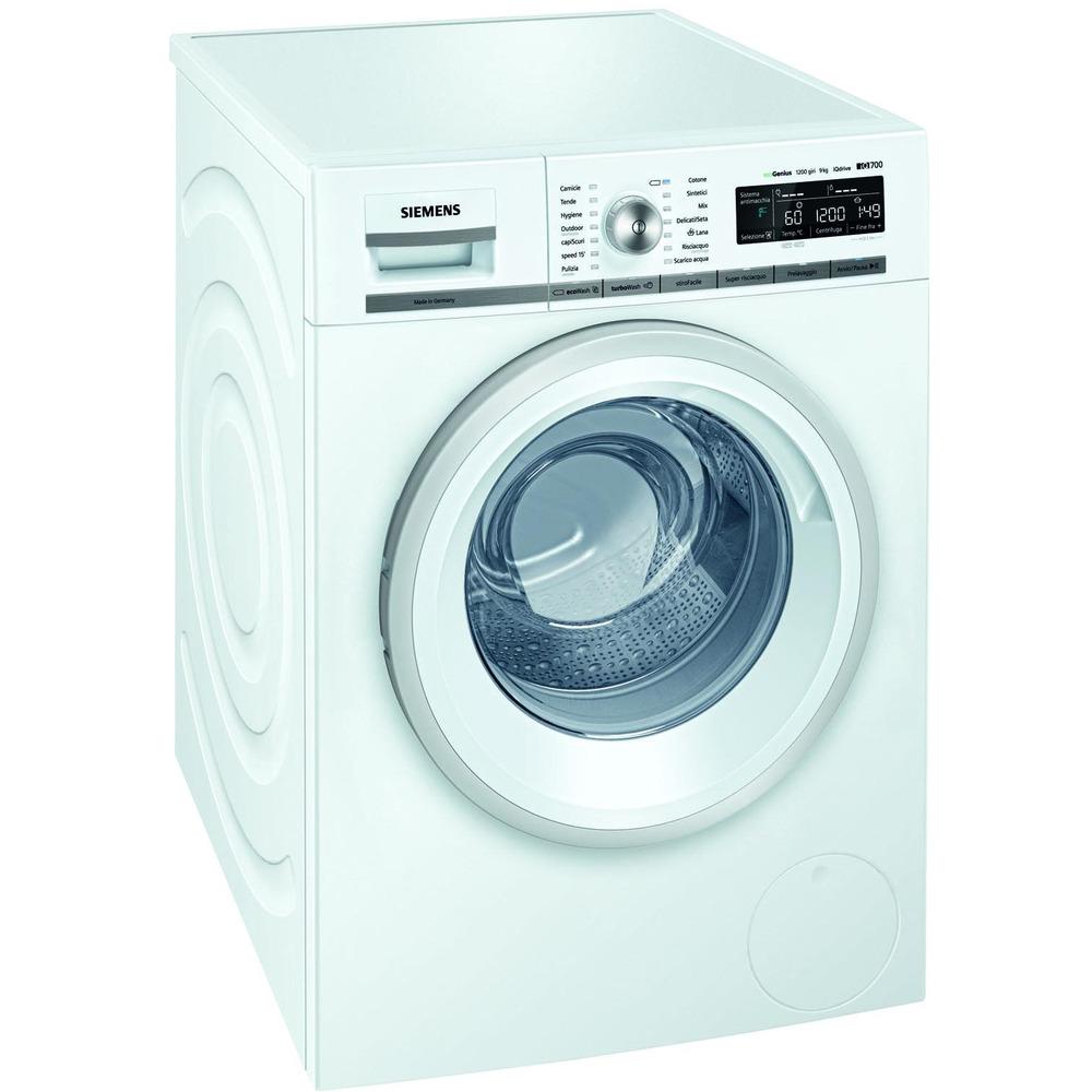 Siemens iQ500 WM12T458IT Libera installazione Carica frontale 8kg  1200Giri/min A+++ Bianco lavatrice