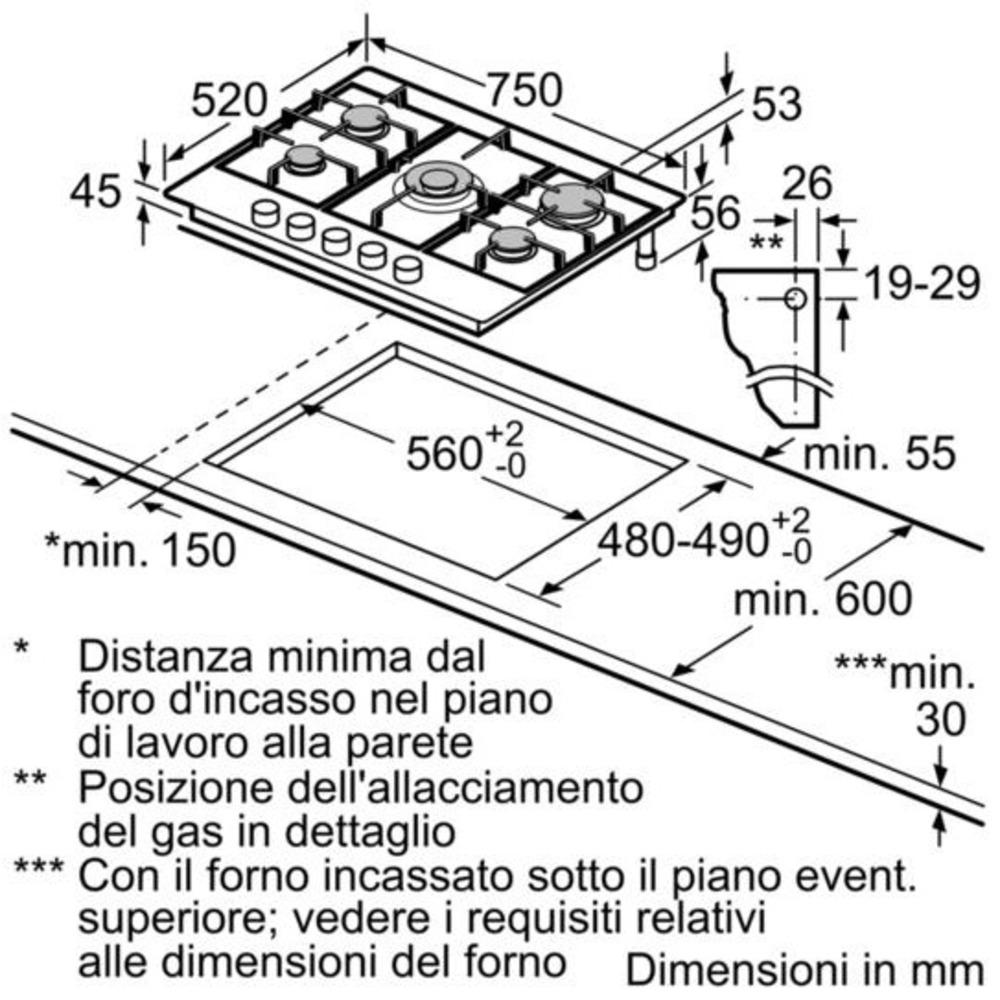 Bosch Piani Cottura PCQ7A5B90 - Expert official shop online